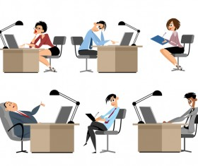 Office workers cartoon vector design 03