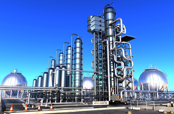 Oil refining field Stock Photo 01