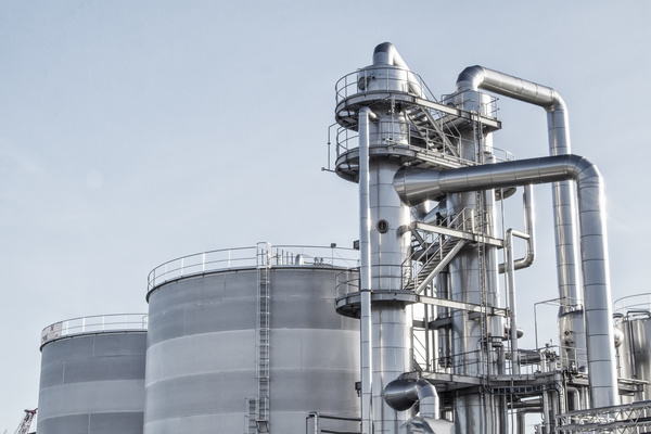 Oil refining field Stock Photo 02