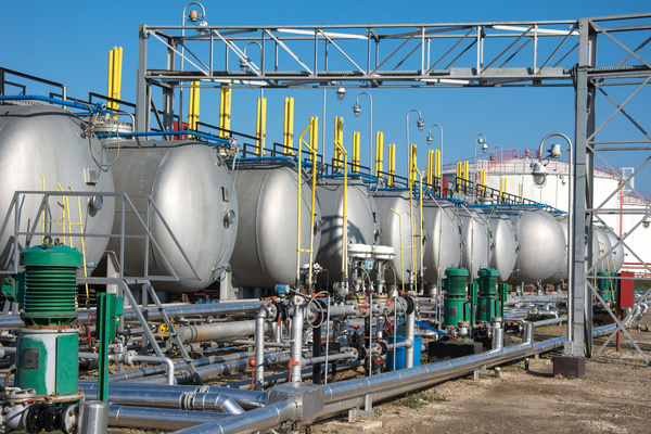 Oil refining field Stock Photo 03