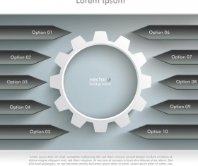 Option infographic template creative vector 02