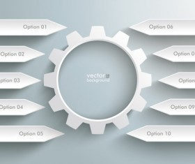 Option infographic template creative vector 03