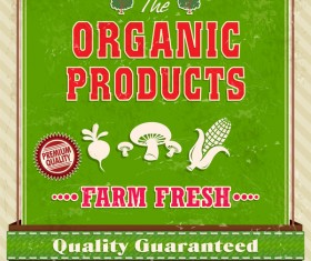 Organic products poster vector