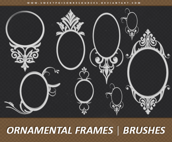 Ornamental Frames Photoshop Brushes Set