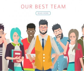 Our best team business background vector 04