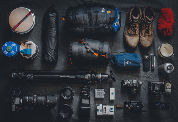 Outdoor photography equipment Stock Photo