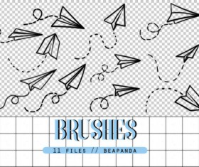 Paper Airplane Photoshop Brushes