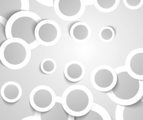 Paper circles with abstract background vector