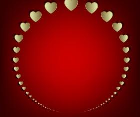 Paper cut heart frame valentine vector