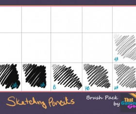 Pencils Sketching Photoshop Brushes