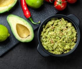Pepper lemon with avocado Stock Photo
