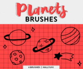 Planets Photoshop Brushes