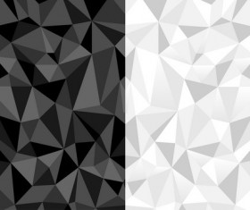 Polygon white with black background vector