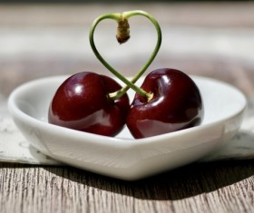 Pretty red cherry Stock Photo