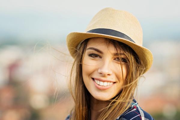 Pretty woman Brilliant smile Stock Photo