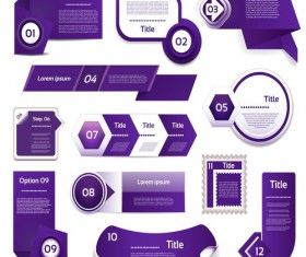Purple business website banners vector