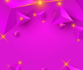 Purple triangle background with star light vector