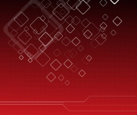 Red background with white square vectors