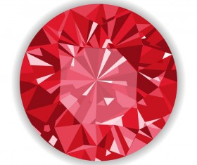 Red diamond illustration vector