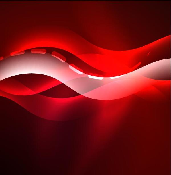 Red with transparent wavy background vector