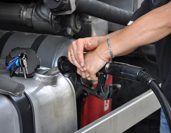 Refueling driver Stock Photo 02