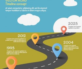 Road map infographic template vector 03