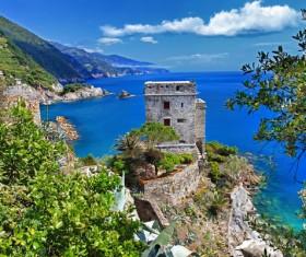 Seaside castle Stock Photo