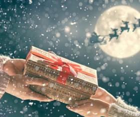 Send Christmas present Stock Photo 01