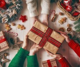 Send Christmas present Stock Photo 02