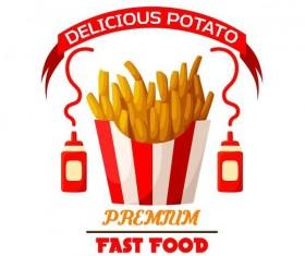 Set of fast food labels design vectors 01