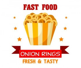Set of fast food labels design vectors 02