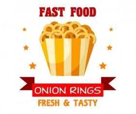 Set of fast food labels design vectors 02
