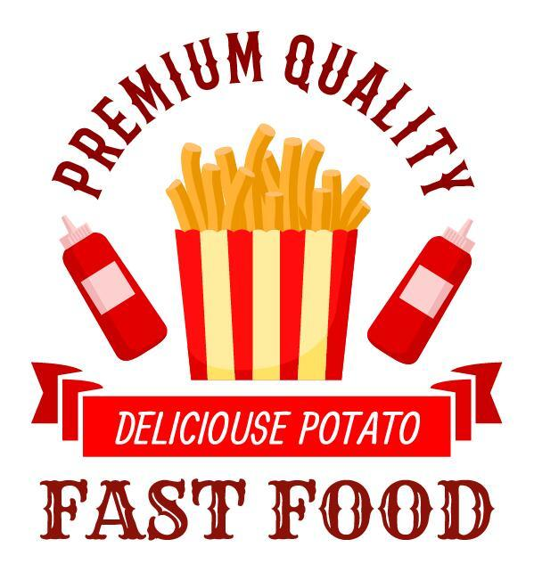 Set of fast food labels design vectors 04