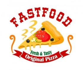 Set of fast food labels design vectors 15