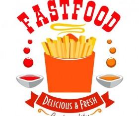 Set of fast food labels design vectors 16