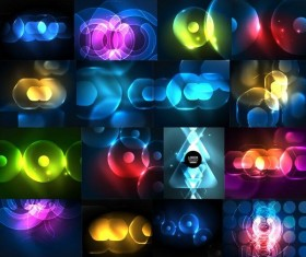 Set of light background vectors