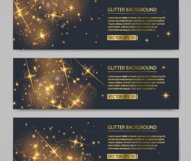Shiny golden stars light vector
