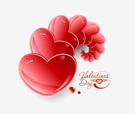 Shiny heart vector valentine background