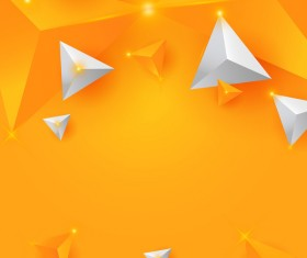 Shiny stars light with triangle abstract background vector 01