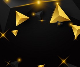 Shiny stars light with triangle abstract background vector 02