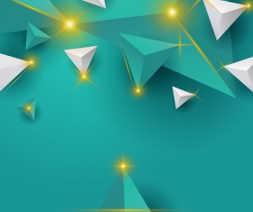 Shiny stars light with triangle abstract background vector 04