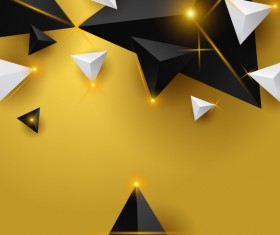 Shiny stars light with triangle abstract background vector 07