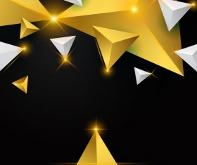 Shiny stars light with triangle abstract background vector 08