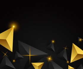 Shiny stars light with triangle abstract background vector 09
