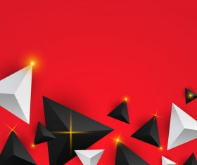 Shiny stars light with triangle abstract background vector 10