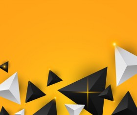 Shiny stars light with triangle abstract background vector 12