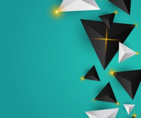 Shiny stars light with triangle abstract background vector 13