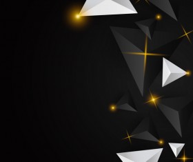 Shiny stars light with triangle abstract background vector 14