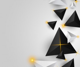 Shiny stars light with triangle abstract background vector 15
