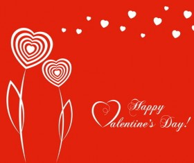 Simple Valentine day with city vector material